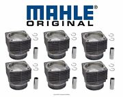 New For Porsche 911 3.0l H6 1978-1983 Set Of 6 Engine Pistons And Cylinders Mahle