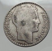 1933 France Authentic Large Silver 10 Francs French Coin Liberty And Wheat I62983