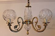 Mid Century Mint Signed Waterford Chandelier -gasolier Style- Leaded Crystal