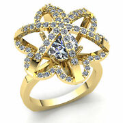 1ct Round Diamond Ladies Personalized Vintage Fancy Ring 18k Gold