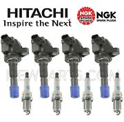 For Honda For 4 Hitachi Direct Ignition Coils And 4 Ngk Spark Plugs Kit