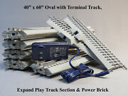 Lionel Fastrack 40x60 Oval Lionchief Terminal Expand Play And Power Brick Pnp New