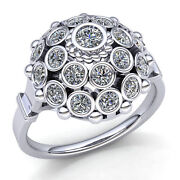 Natural 2ct Round Cut Diamond Womenand039s Bridal Vintage Engagement Ring 14k Gold