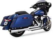 Vance And Hines Chrome Megaphone Pro Pip Exhaust For 17-19 Harley Touring Flhx Flh