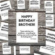 Funny Cool Brother Birthday Card Music Liam/noel Gallagher Oasis Famous Quotes