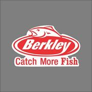 Berkley Catch More Fish Carpet Graphic Decal Sticker For Fishing Bass Boats