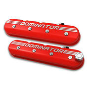 Holley Engine Valve Cover Set 241-121 Red For Chevy Ls-series