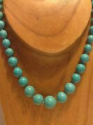 Vintage 54.8 Gram Turquoise Beads Original Jewelry Chinese Necklace M1288