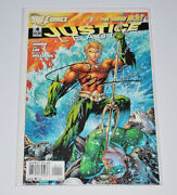 Justice League 4 Signed Jim Lee The New 52 Great Art Aquaman And Green Latern