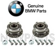 For Bmw E70 F15 X5 X6 Set Pair Of Front Left And Right Wheel Hub W/ Bearings