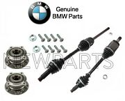 For E70 F15 Set Of Front Left And Right Axle Shafts And Wheel Hubs Bearing Genuine