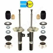 For Bmw E46 Set Of 2 Front Struts And Mounts W/ Cover Caps And Plates And Belows