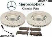 For Mercedes W212 W218 Front Brake Rotors And Pads And Sensor Kit Genuine