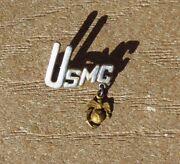 Ww2 Usmc Droop Marine Ega Military Sterling Sweetheart Home Front Jewelry Pin