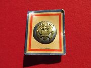 Ww 2 Us Army Enlisted Hat Badge Made In Mexico On Store Card
