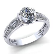 2ct Round Diamond Ladies Accent Solitaire Engagement Ring 14k Gold