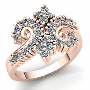 3ct Genuine Round Cut Diamond Ladies Twisted Accent Anniversary Ring 18k Gold