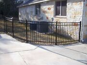 90 Linear Feet Of 4and039 High Georgia Style Aluminum Fence W/posts And Caps