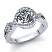 3ctw Round Cut Diamond Ladies Infinity Solitaire Engagement Ring 10k Gold