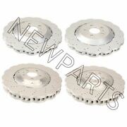 For Rs7 14-16 Set Of Front And Rear Vented Drilled Dimpled Disc Brake Rotors Oem