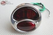28-31 Model A Tail Light Lamp Assembly Braided Wire Left Hand Stop Glass Lens