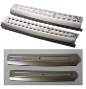 Ford Model A Sill / Scuff Plate Set With Logo Phaeton Front / Rear 1928-1929