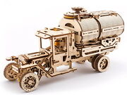 Tanker Truck Mechanical Model 3d Wood Puzzle Diy Toy Vehicle Assembly Gears Kit