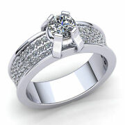 1.5ct Round Cut Diamond Ladies Accent Solitaire Engagement Ring 18k Gold