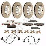 For Porsche Cayenne Front And Rear Brake Rotors And Pads+sensors W/ Mounting Hw Oem