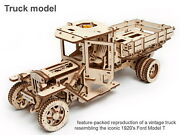 Truck Mechanical Model Car 3d Wood Puzzle Diy Toy Assembly Gears Kit Ford 1920's