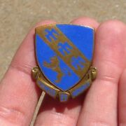 Ww2 Us Army Military 317th Infantry Regiment Pin Back Crest Dui Di German Made