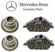 For Mb R172 W204 Pair Set Of 2 Camshaft Adjusters And 2 Cylinder Head End Covers