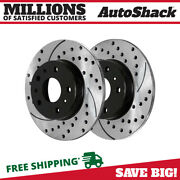 Rear Drilled Slotted Disc Brake Rotors Pair 2 For Chevy Monte Carlo Impala 5.3l