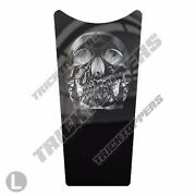 Gas Tank Dash Console Insert Decal For 87-07 Harley Touring Black Ghost Skull T