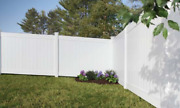 6and039 High Hamden White Pvc Vinyl Privacy Fence Complete Yard Kit 250 Linear Feet