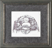 After All These Years By David Wilson Framed Original Pen And Ink Drawing
