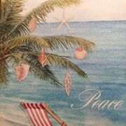 Tropical Beach Chair Boxed Christmas Greeting Cards New 12 Ct Shells Palm Tree