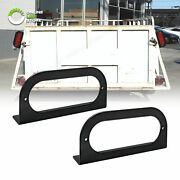 2pc 6 Oval Trailer Tail Light L Mounting Bracket For Truck Boat Rv