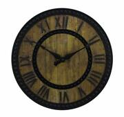 15.5 Better Homes And Gardens Rustic Faux Wooden Wall Antique Style Clock G106