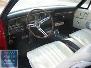 1968 Impala Oem Vinyl Covered Madrid Grain Dash Pad W/out Ac Turquoise Each