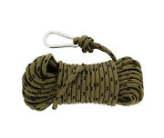 Nylon Rope And Carabiner 3/8andrdquo Inch X 50andrsquo Feet 220 Pound Tensioner Tie Down Anchor
