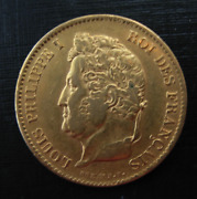 France 1833a Gold 40 Francs Louis Philippe Circulated
