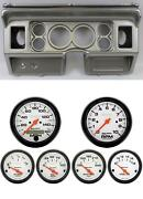 80-86 Ford Truck Silver Dash Carrier Auto Meter 3-3/8 Phantom Electric Gauges