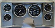 82-88 Chevy G Body Silver Dash Carrier W/ Auto Meter Carbon Gauges