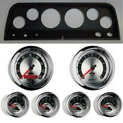 64 Chevy Truck Black Dash Carrier W/ Auto Meter American Muscle Gauges