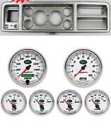 73-79 Ford Truck Silver Dash Carrier W/ Auto Meter 3-3/8 Nv Gauges