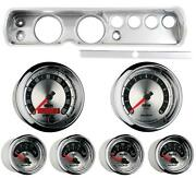 64 Chevelle Silver Dash Carrier W/ Auto Meter 5 American Muscle Gauges