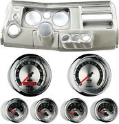 69 Chevelle Silver Dash Carrier W/ Auto Meter 5 American Muscle Gauges W/ Astro