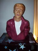 James Dean Clay Art Cookie Jar Mint In Box. Never Used