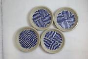 4 Vintage Studio Art Niels Frederiksen Glazed Pottery Bowls Signed Lot (690)